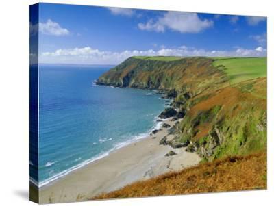 Lantic Bay, Near Fowey, Cornwall, England,UK-John Miller-Stretched Canvas Print