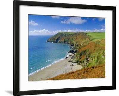 Lantic Bay, Near Fowey, Cornwall, England,UK-John Miller-Framed Photographic Print