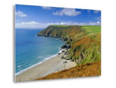 Lantic Bay, Near Fowey, Cornwall, England,UK-John Miller-Metal Print