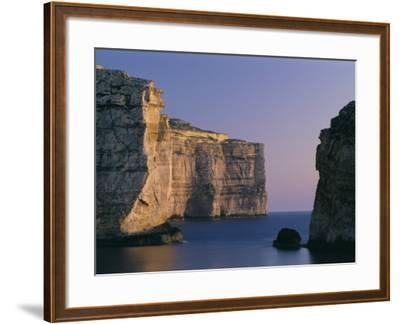Coastline in the Evening at Dwejra, Gozo, Malta, Mediterranean, Europe-Fred Friberg-Framed Photographic Print