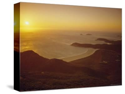 Wilson's Promontory, Sunset from Mount Oberon, Victoria, Australia-Dominic Webster-Stretched Canvas Print