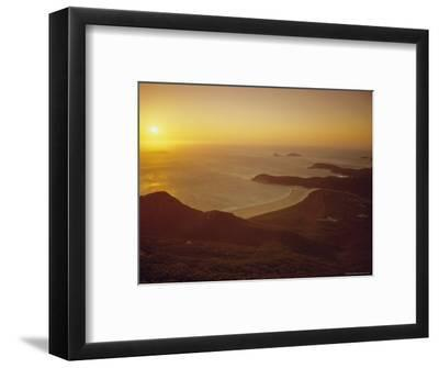 Wilson's Promontory, Sunset from Mount Oberon, Victoria, Australia-Dominic Webster-Framed Photographic Print