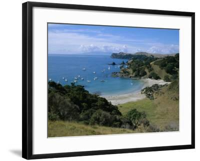 Boats at Anchorage, Waiheke Island, Central Auckland, North Island, New Zealand, Pacific-D H Webster-Framed Photographic Print