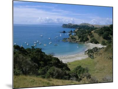 Boats at Anchorage, Waiheke Island, Central Auckland, North Island, New Zealand, Pacific-D H Webster-Mounted Photographic Print