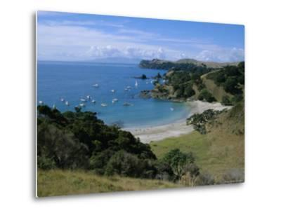Boats at Anchorage, Waiheke Island, Central Auckland, North Island, New Zealand, Pacific-D H Webster-Metal Print