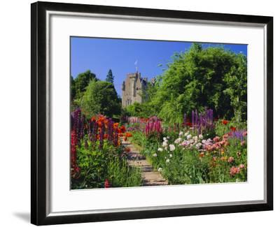 Herbaceous Borders in the Gardens, Crathes Castle, Grampian, Scotland, UK, Europe-Kathy Collins-Framed Photographic Print