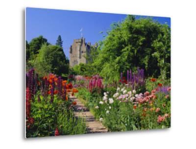 Herbaceous Borders in the Gardens, Crathes Castle, Grampian, Scotland, UK, Europe-Kathy Collins-Metal Print