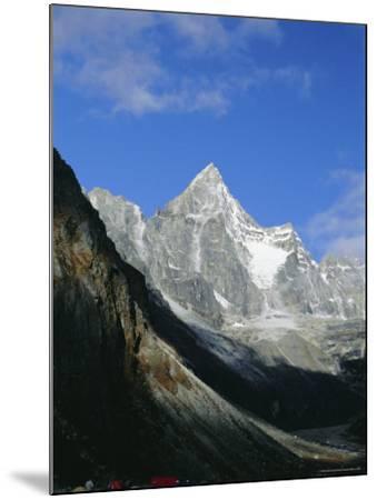 Kya Jo Ri Mountain from Machermo, Machermo, Himalayas, Nepal, Asia-Alison Wright-Mounted Photographic Print