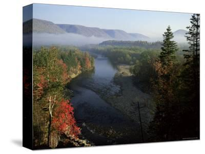 River in Margaree Valley, Cape Breton, Canada, North America-Alison Wright-Stretched Canvas Print