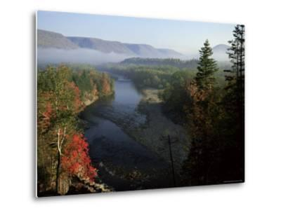 River in Margaree Valley, Cape Breton, Canada, North America-Alison Wright-Metal Print
