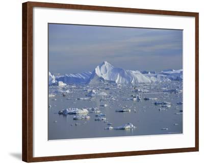 Icebergs from the Icefjord, Ilulissat, Disko Bay, Greenland, Polar Regions-Robert Harding-Framed Photographic Print