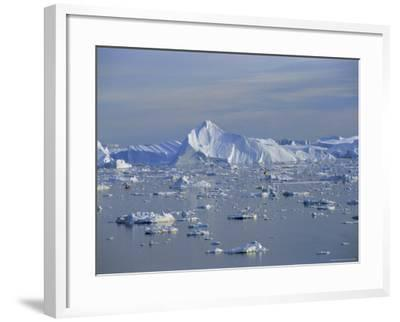 Icebergs from the Icefjord, Ilulissat, Disko Bay, Greenland, Polar Regions-Robert Harding-Framed Photographic Print