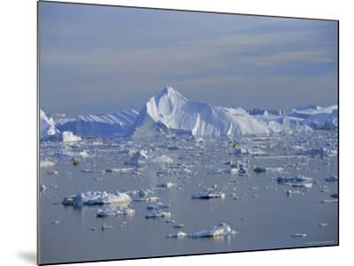 Icebergs from the Icefjord, Ilulissat, Disko Bay, Greenland, Polar Regions-Robert Harding-Mounted Photographic Print