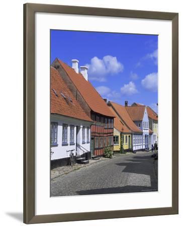 Colourful Houses, Aeroskobing, Island of Aero, Denmark, Scandinavia, Europe-Robert Harding-Framed Photographic Print