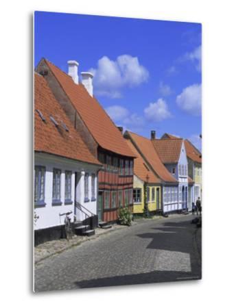 Colourful Houses, Aeroskobing, Island of Aero, Denmark, Scandinavia, Europe-Robert Harding-Metal Print