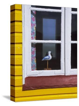 Window of Beach Hut, Aeroskobing, Island of Aero, Denmark, Scandinavia, Europe-Robert Harding-Stretched Canvas Print