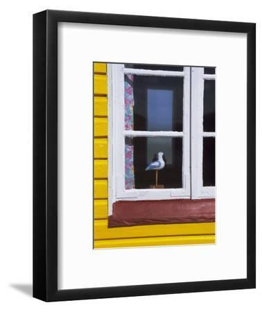 Window of Beach Hut, Aeroskobing, Island of Aero, Denmark, Scandinavia, Europe-Robert Harding-Framed Photographic Print