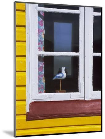 Window of Beach Hut, Aeroskobing, Island of Aero, Denmark, Scandinavia, Europe-Robert Harding-Mounted Photographic Print