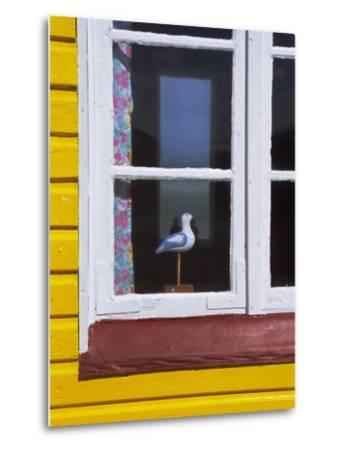 Window of Beach Hut, Aeroskobing, Island of Aero, Denmark, Scandinavia, Europe-Robert Harding-Metal Print
