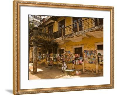 Decaying House in Panaji Formerly Known as Panjim, Goa, India-Robert Harding-Framed Photographic Print