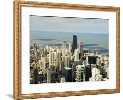 View of Chicago from the Sears Tower Sky Deck, Chicago, Illinois, USA-Robert Harding-Framed Photographic Print