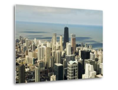 View of Chicago from the Sears Tower Sky Deck, Chicago, Illinois, USA-Robert Harding-Metal Print