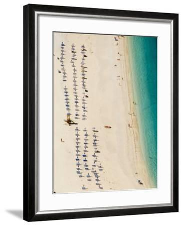 Myrtos Beach, the Best Beach for Sand Near Assos, Kefalonia (Cephalonia), Greece, Europe-Robert Harding-Framed Photographic Print