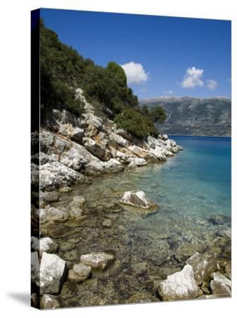 Near Fiskardo on the East Coast of Kefalonia (Cephalonia), Ionian Islands, Greece, Europe-Robert Harding-Stretched Canvas Print
