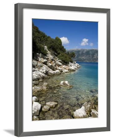 Near Fiskardo on the East Coast of Kefalonia (Cephalonia), Ionian Islands, Greece, Europe-Robert Harding-Framed Photographic Print
