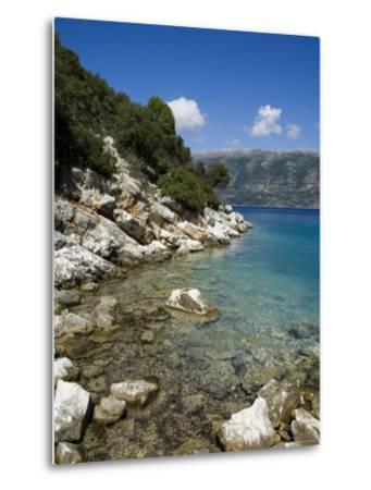 Near Fiskardo on the East Coast of Kefalonia (Cephalonia), Ionian Islands, Greece, Europe-Robert Harding-Metal Print