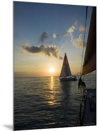 Sailboats at Sunset, Key West, Florida, United States of America, North America-Robert Harding-Mounted Photographic Print