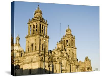 Metropolitan Cathedral, Zocalo, Centro Historico, Mexico City, Mexico, North America-Robert Harding-Stretched Canvas Print