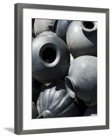 Black Pottery Typical of Oaxaca Area, Mexico, North America-Robert Harding-Framed Photographic Print
