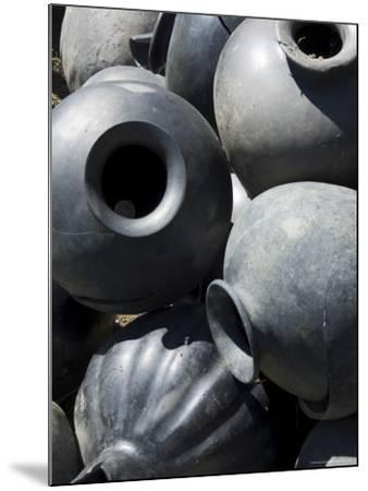 Black Pottery Typical of Oaxaca Area, Mexico, North America-Robert Harding-Mounted Photographic Print