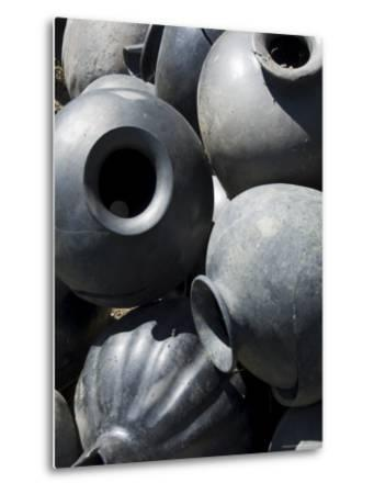Black Pottery Typical of Oaxaca Area, Mexico, North America-Robert Harding-Metal Print