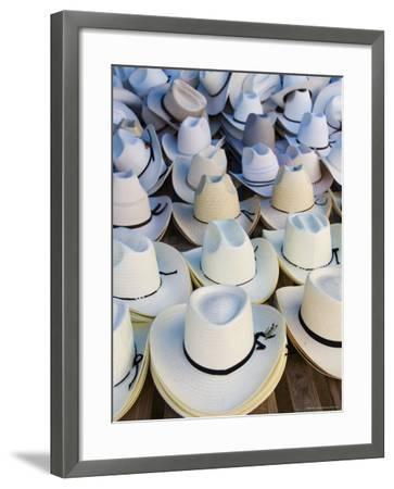 Hats, Market Day at Zaachila, Oaxaca, Mexico, North America-Robert Harding-Framed Photographic Print