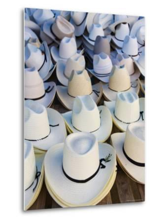 Hats, Market Day at Zaachila, Oaxaca, Mexico, North America-Robert Harding-Metal Print