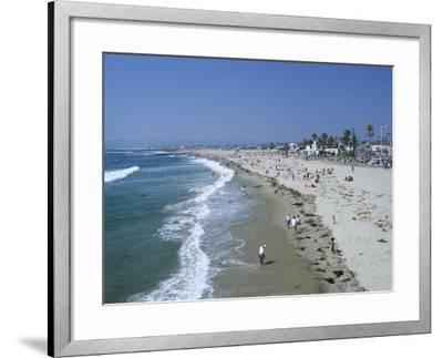 The Beach at Ocean Beach, San Diego, California, United States of America (U.S.A.), North America-Fraser Hall-Framed Photographic Print