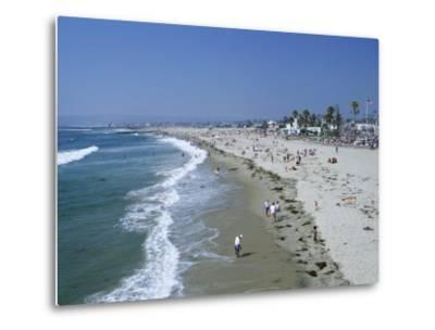 The Beach at Ocean Beach, San Diego, California, United States of America (U.S.A.), North America-Fraser Hall-Metal Print