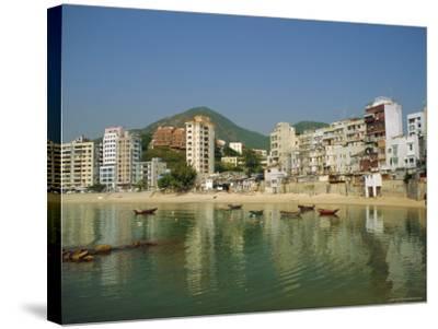Stanley Town on the Coast, Hong Kong Island, Hong Kong, China-Fraser Hall-Stretched Canvas Print