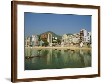 Stanley Town on the Coast, Hong Kong Island, Hong Kong, China-Fraser Hall-Framed Photographic Print