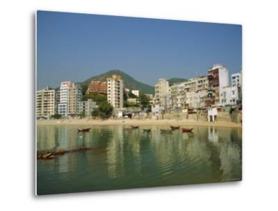Stanley Town on the Coast, Hong Kong Island, Hong Kong, China-Fraser Hall-Metal Print