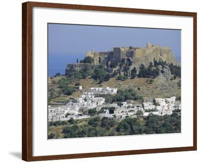 The Acropolis, Lindos, Rhodes, Dodecanese Islands, Greece Europe-Fraser Hall-Framed Photographic Print