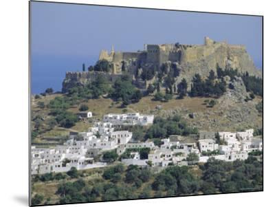 The Acropolis, Lindos, Rhodes, Dodecanese Islands, Greece Europe-Fraser Hall-Mounted Photographic Print