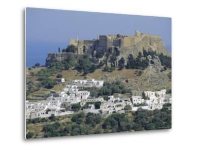 The Acropolis, Lindos, Rhodes, Dodecanese Islands, Greece Europe-Fraser Hall-Metal Print