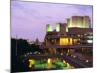 The National Theatre in the Evening, South Bank, London, England, UK-Fraser Hall-Mounted Photographic Print