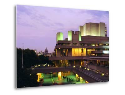 The National Theatre in the Evening, South Bank, London, England, UK-Fraser Hall-Metal Print