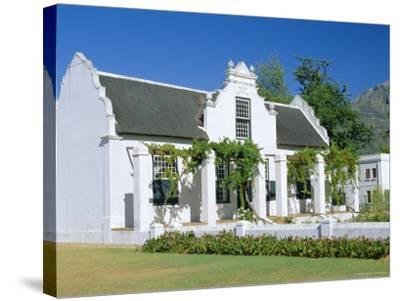 Cape Dutch Architecture, Early 19th C. Stellenbosch, South Africa-Fraser Hall-Stretched Canvas Print