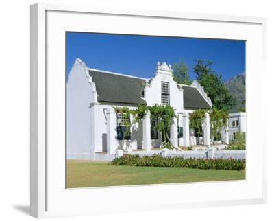 Cape Dutch Architecture, Early 19th C. Stellenbosch, South Africa-Fraser Hall-Framed Photographic Print