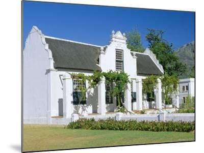 Cape Dutch Architecture, Early 19th C. Stellenbosch, South Africa-Fraser Hall-Mounted Photographic Print